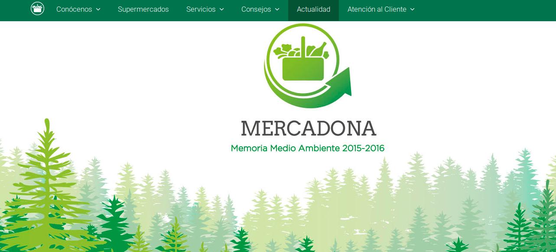 Mercadona presenta su nueva Memoria de Medio Ambiente Mercadona